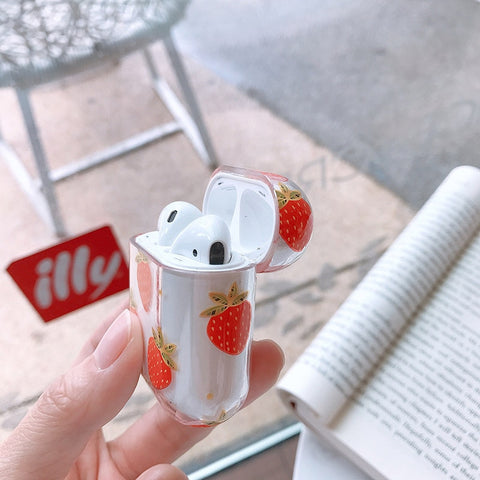 Hard Strawberry AirPods 1 & 2 Case