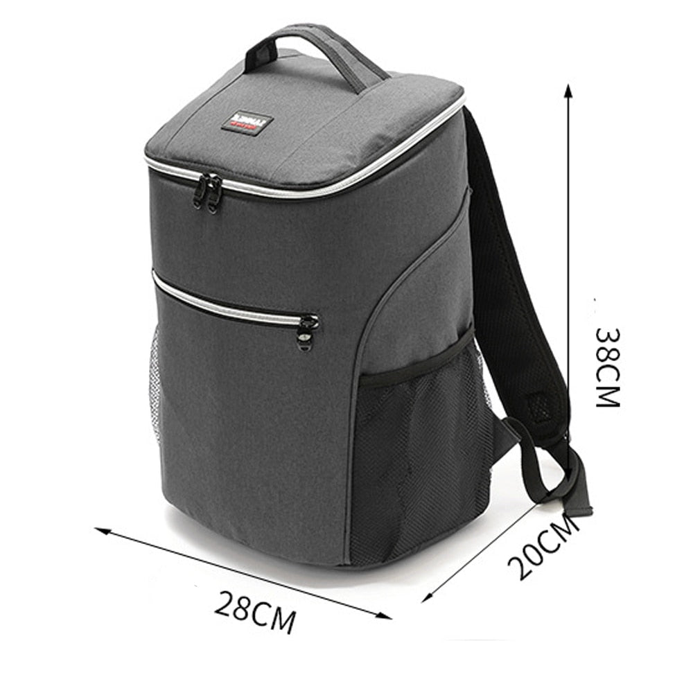 20L 600D oxford big cooler bag thermo lunch picnic box insulated cool backpack ice pack fresh carrier thermal shoulder bags