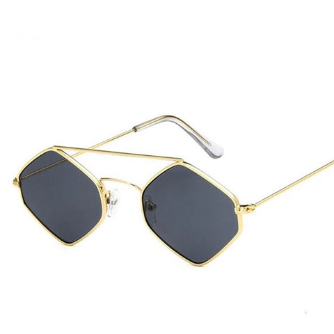 Hippie Sunglasses - Gold Frame