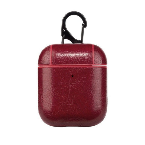 Red Leather Case for AirPods