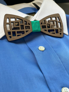 Geometric Wood Bow Ties