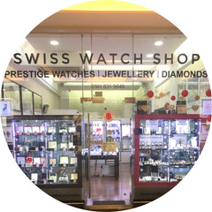 The store front of Swiss Watch Shop in Manchester city centre