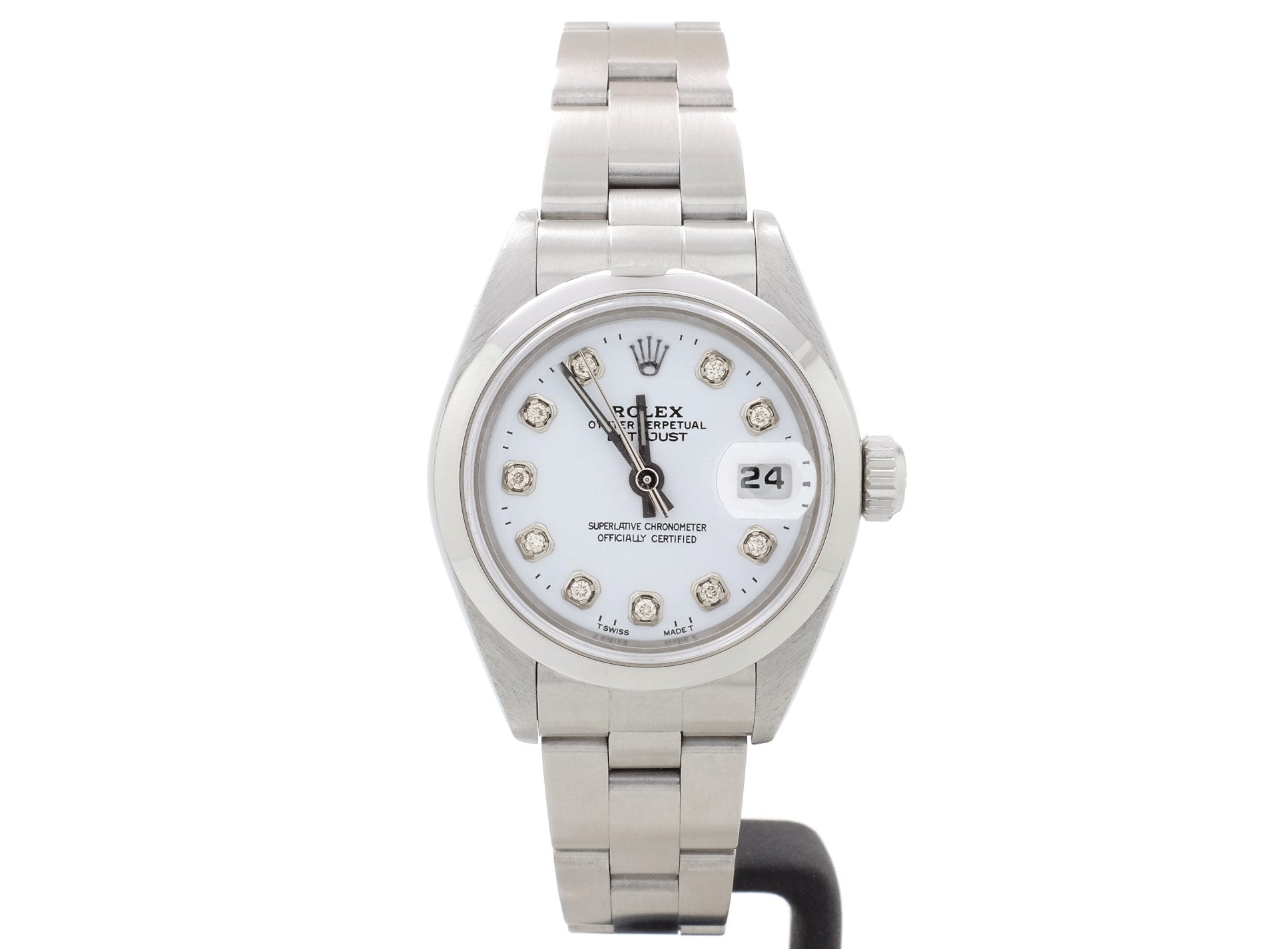 Elegant Rolex LADY-DATE Model 79240 with Custom Diamond-Dot White Dial
