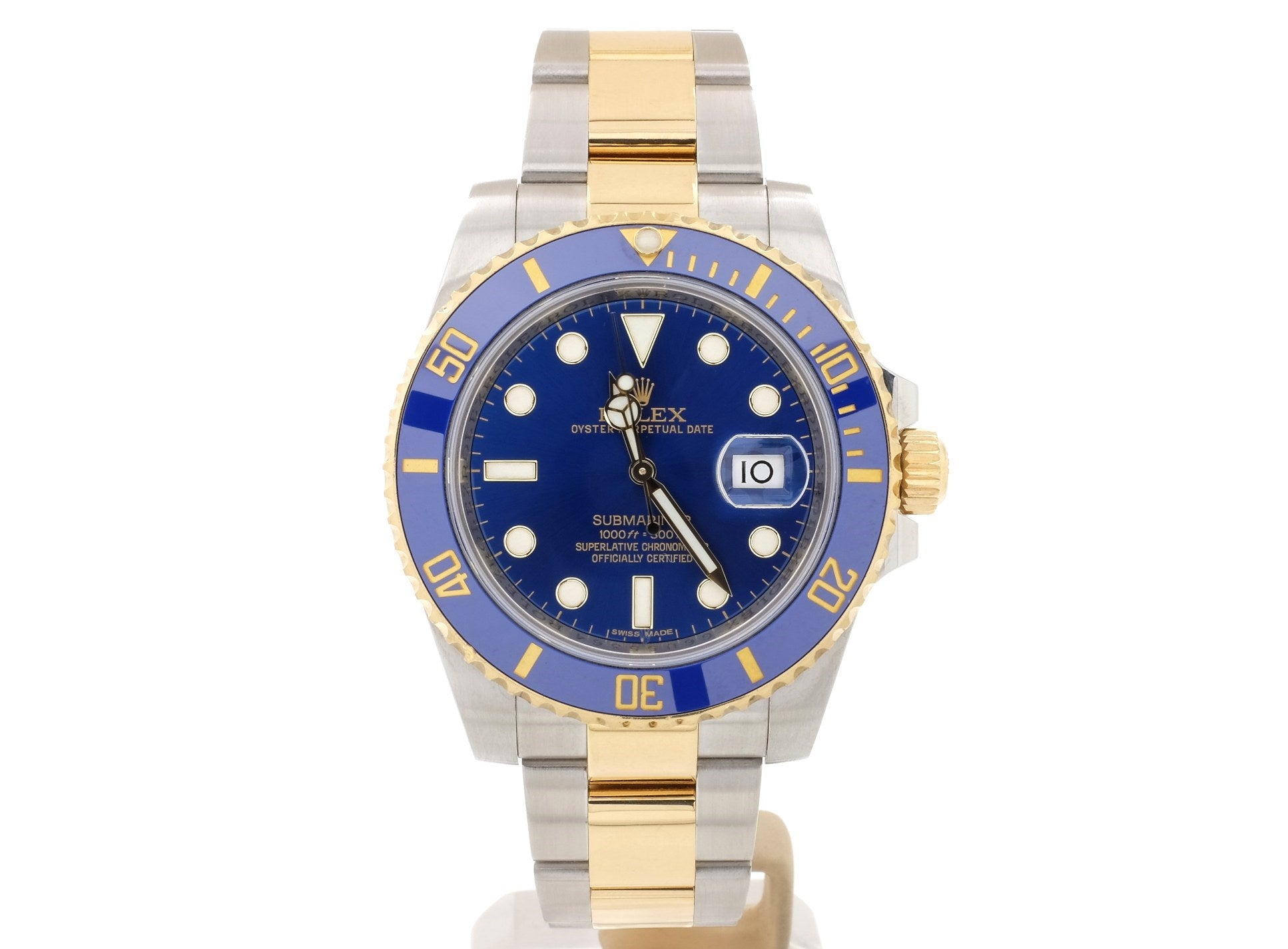 2010 Rolex SUBMARINER DATE 116613LB in Very Good Condition