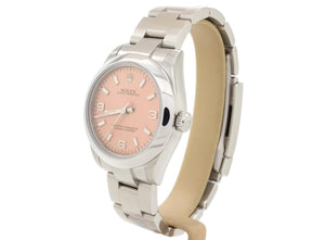 31mm Ladies' Rolex OYSTER PERPETUAL 177200 with Salmon Pink Dial in Superb Condition!