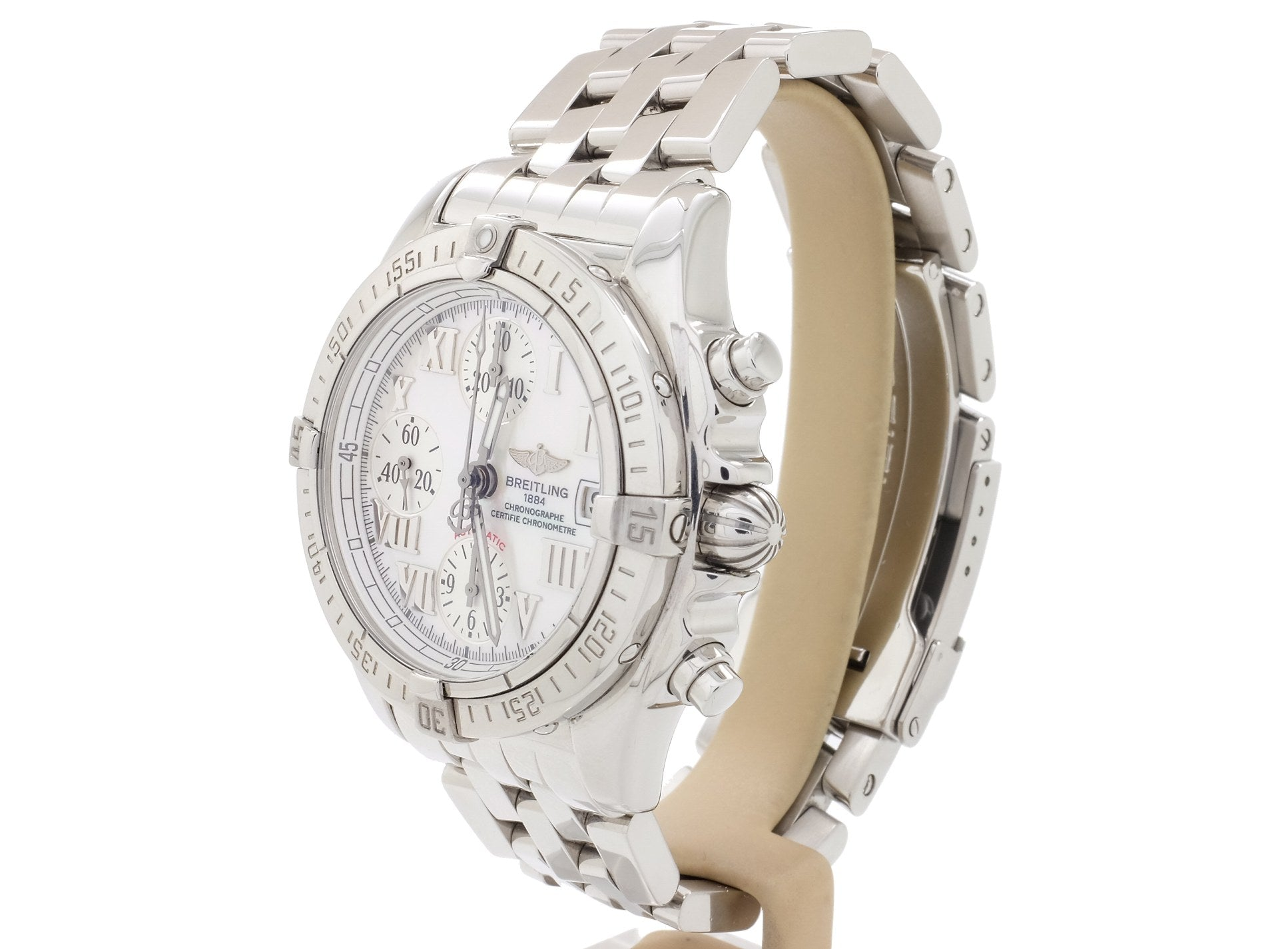 Breitling 'Chrono Cockpit' Model A13358 with Wow Factor and Mother Of Pearl Dial