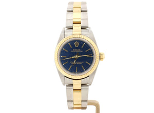 25mm Rolex LADY OYSTER PERPETUAL Model 76193 with Dark Blue Dial