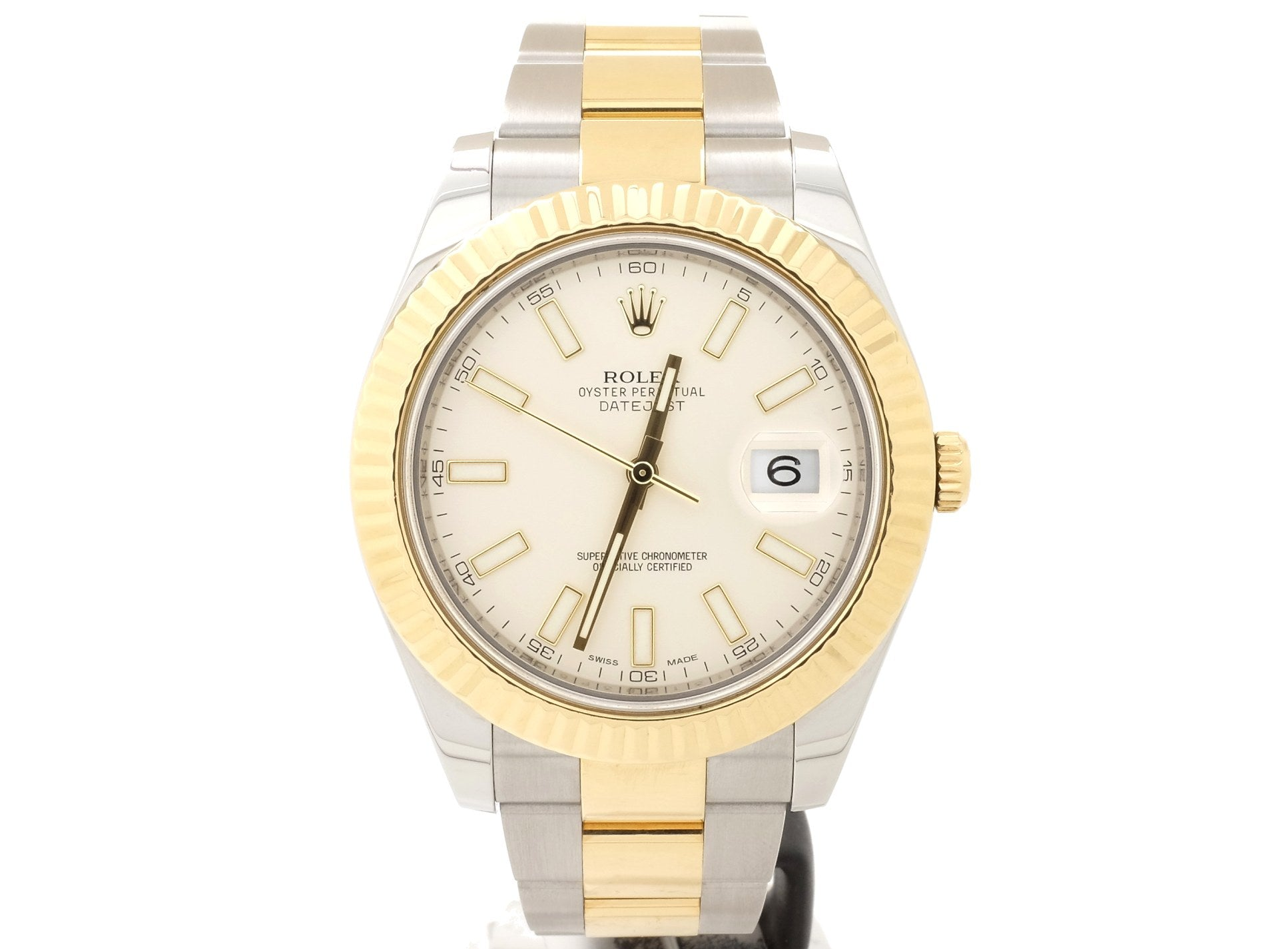 41mm Rolex 'DATEJUST II' 116333 with Cream Dial — Virtually Like New
