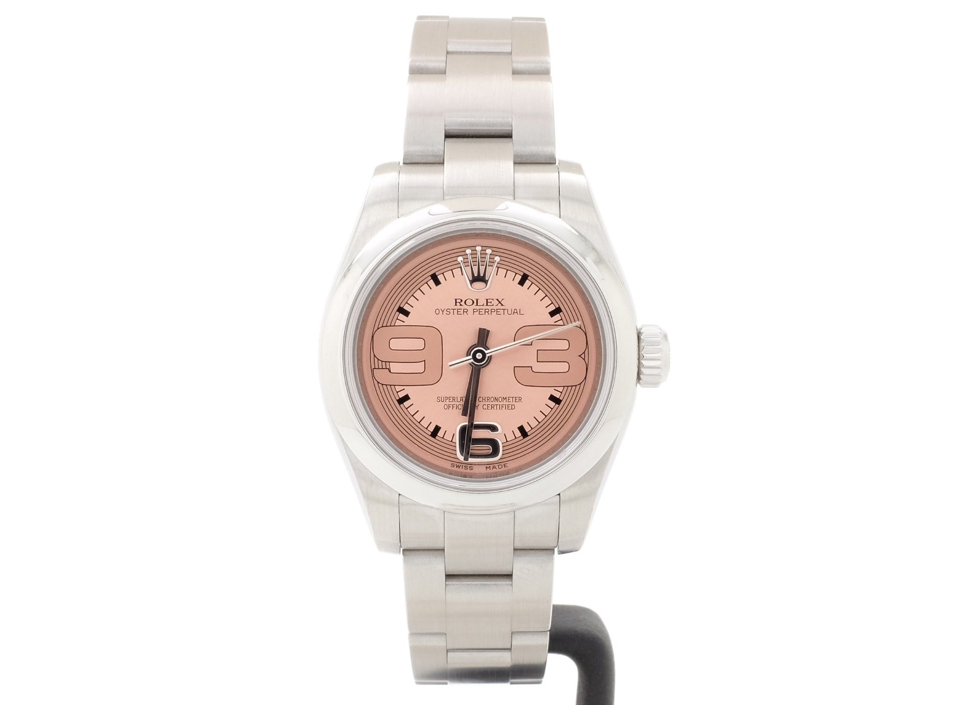 Ladies' 2010 26mm Rolex OYSTER Model 176200 with Salmon-Pink Dial
