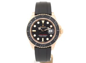 MINT Condition 18ct Rose-Gold Rolex YACHT-MASTER 40 116655 with Oysterflex Strap