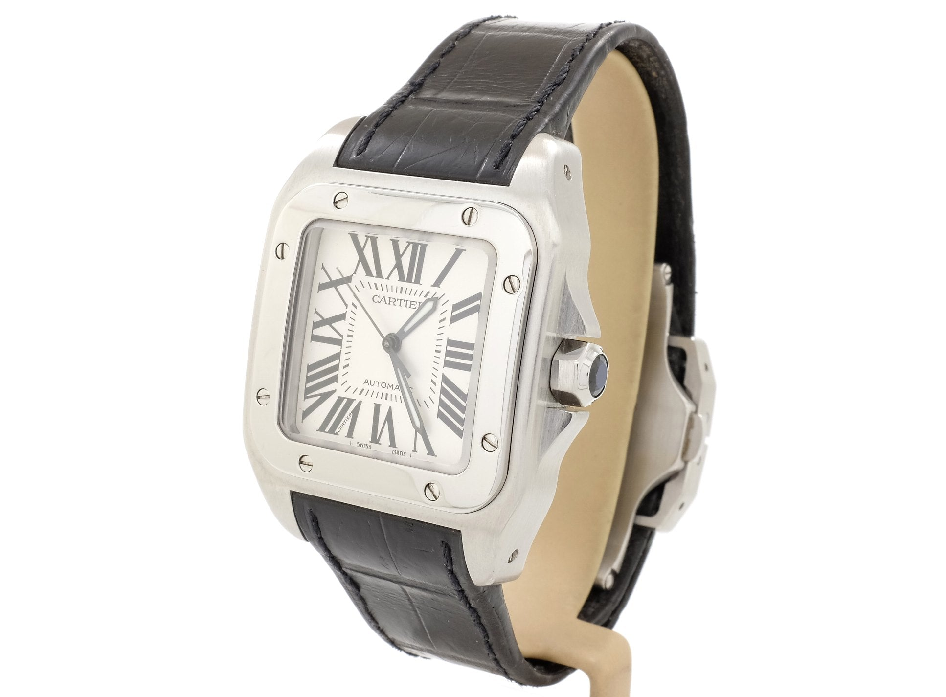 33mm 2007 Cartier SANTOS 100 (Auto) 2878 in Very Good Condition