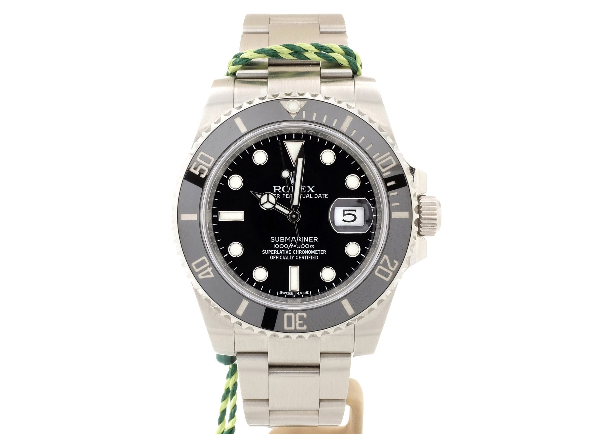 40mm 2016 Ceramic-Bezel Rolex SUB DATE 116610LN — MINT, UNWORN!