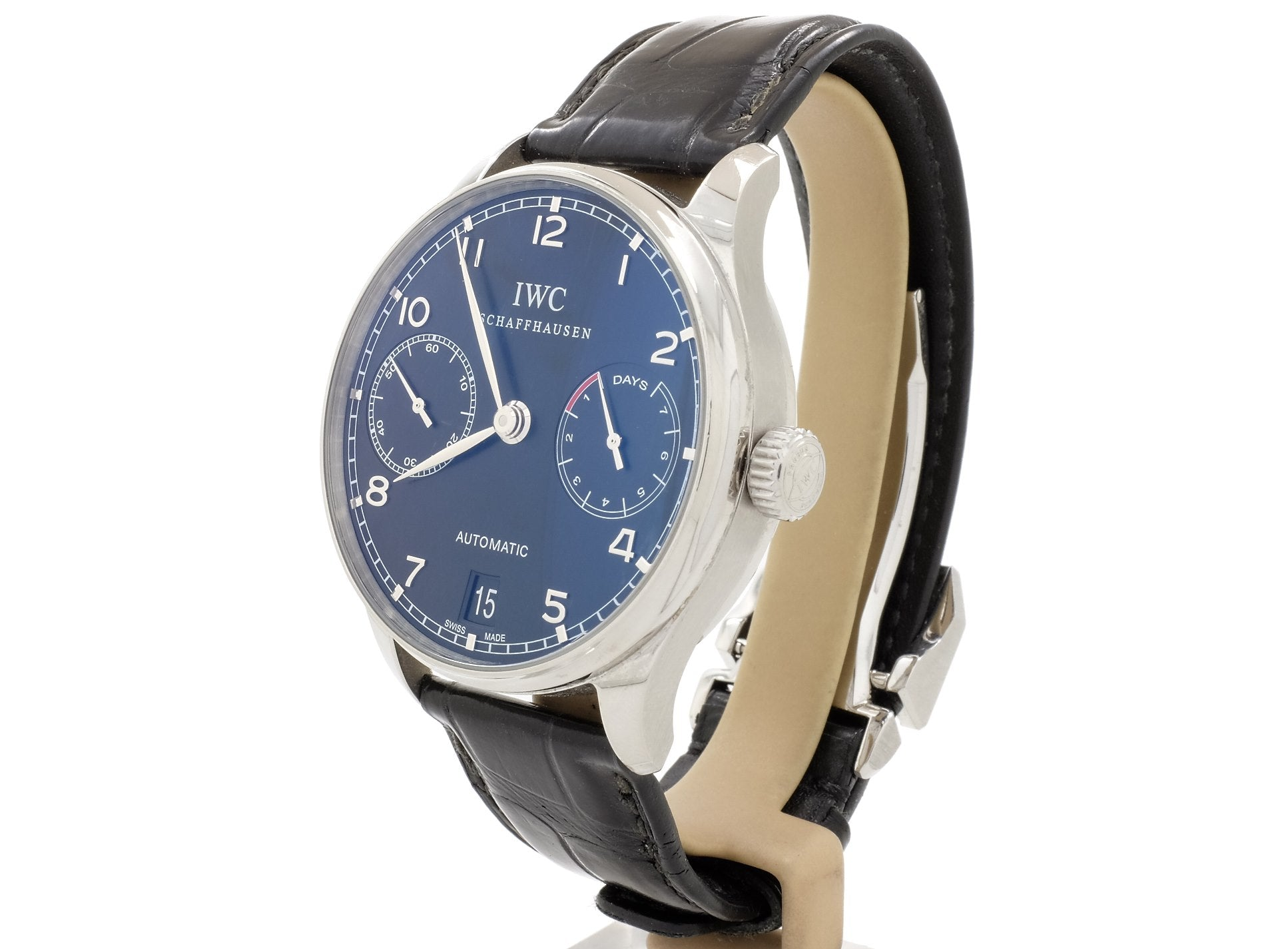 IWC Portugieser Automatic Ref. 5001 (IW500109) with Impressive Display Case Back