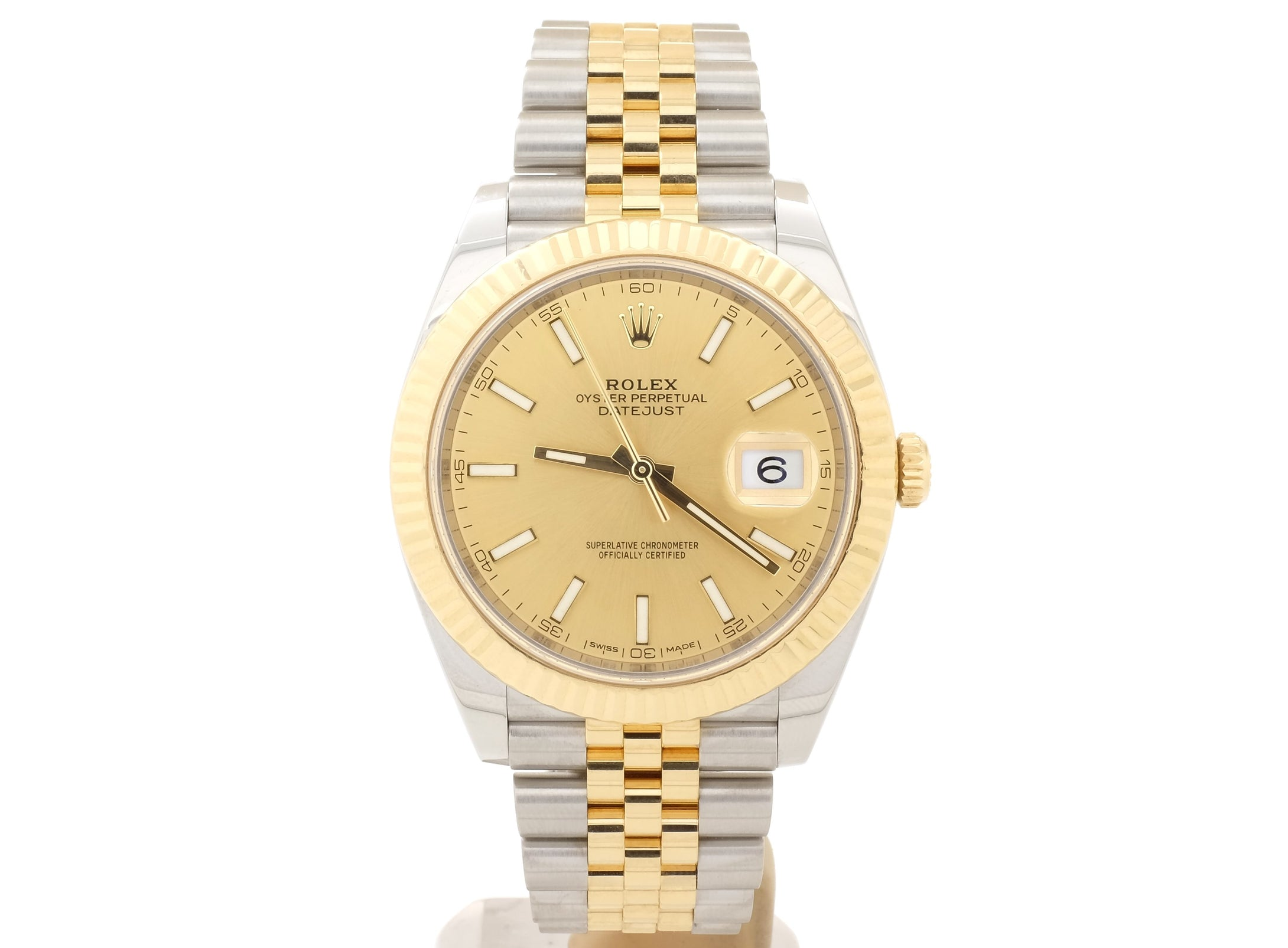 Fantastic 2016 Rolex DATEJUST 41 126333 with Champagne Dial — Still in Warranty