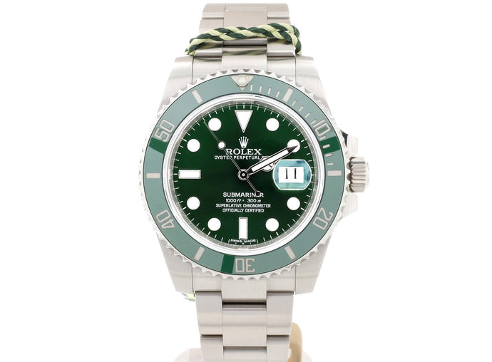 2011 Green Ceramic Bezel Rolex SUBMARINER DATE Model 116610LV 'Hulk'
