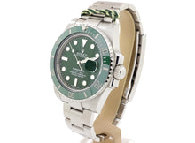 Load image into Gallery viewer, 2011 Green Ceramic Bezel Rolex SUBMARINER DATE Model 116610LV 'Hulk'