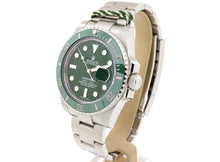 Load image into Gallery viewer, Dec 2017 Green Ceramic-Bezel Rolex SUBMARINER DATE Model 116610LV ('Hulk')