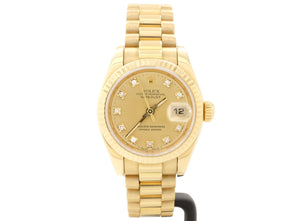 18ct-Gold Rolex LADY-DATEJUST Model 179178 with Original Diamond-Dot Dial