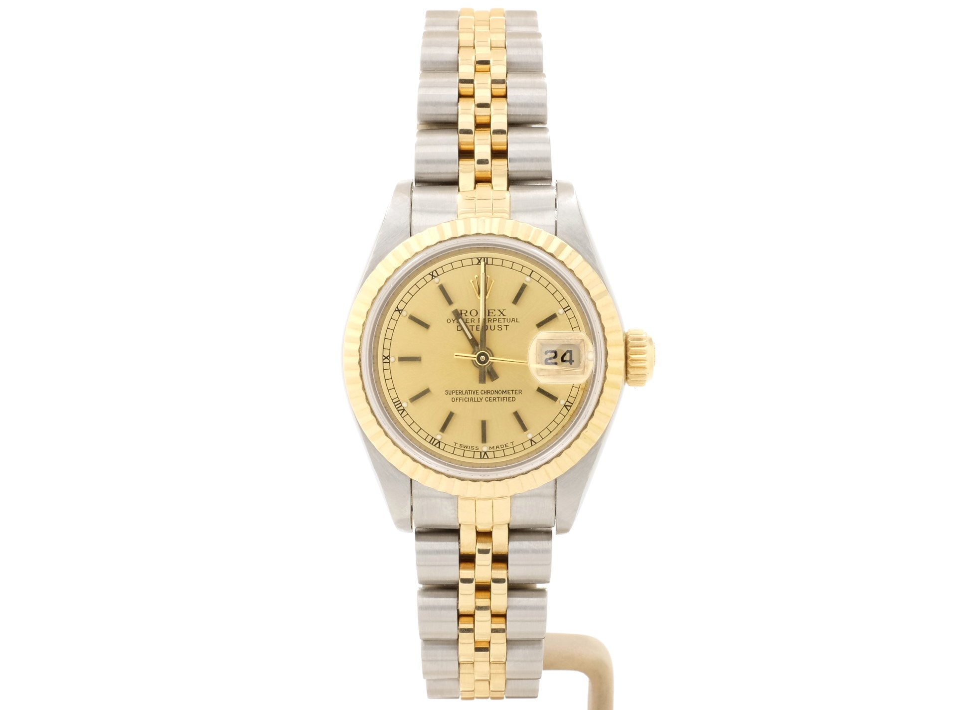 Elegant 26mm Rolex LADY-DATEJUST Model 69173 with Champagne Dial