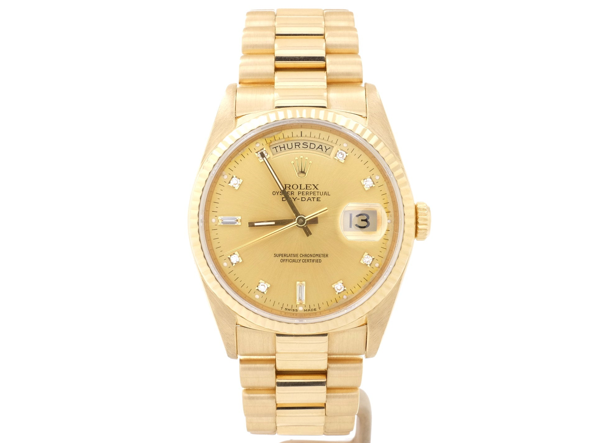 18ct Yellow Gold Rolex DAY-DATE 18238 ('President') with Diamond-Dot Dial