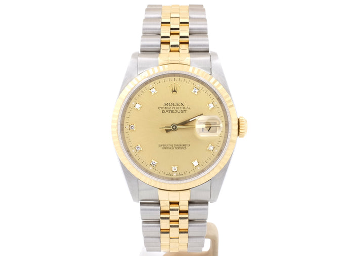 Steel and 18ct-Gold Rolex Datejust 16233 with Original Diamond-Dot Dial