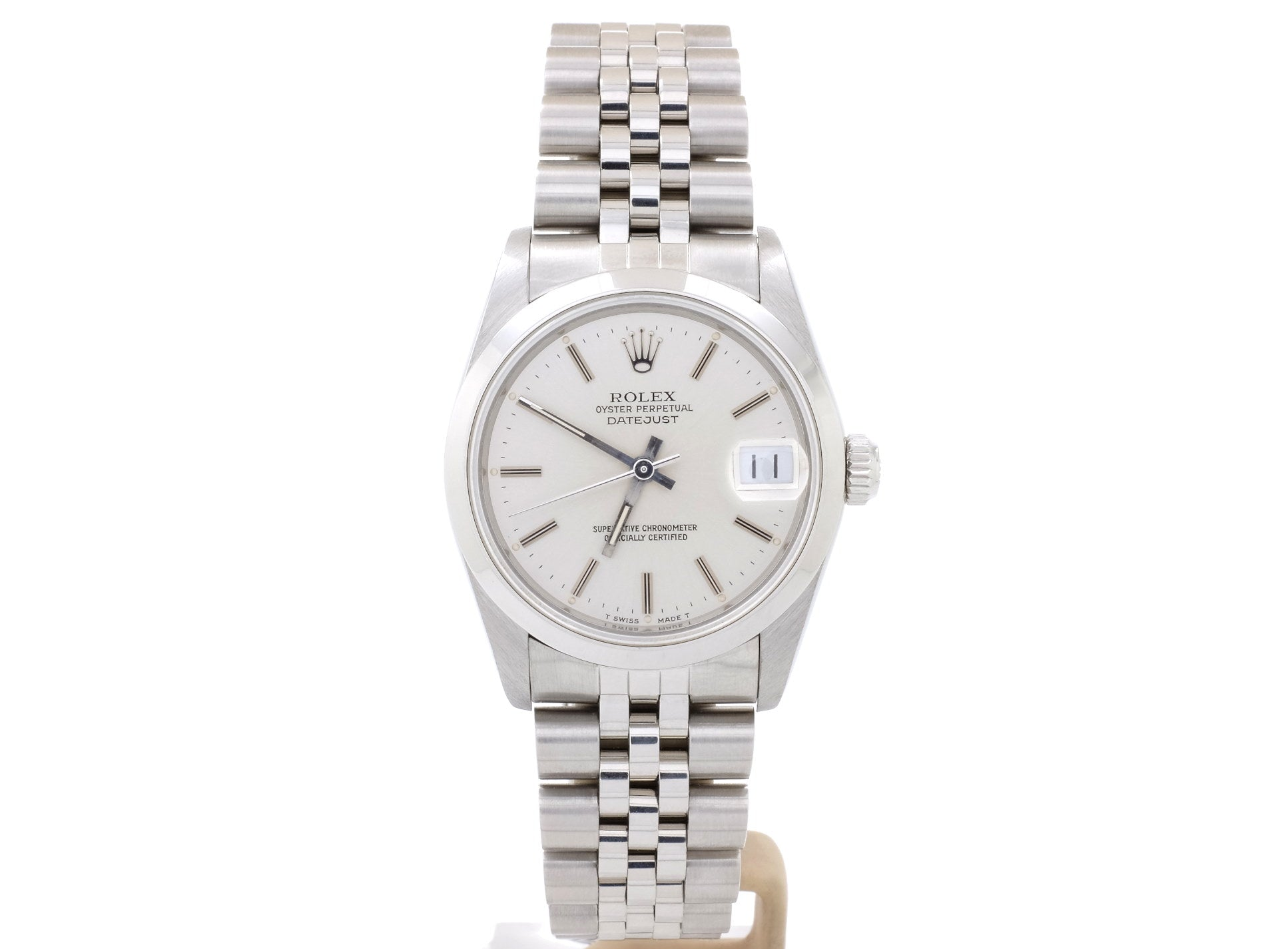 Excellent-Condition Ladies' Mid-Size Rolex DATEJUST 68240 with Silver Dial