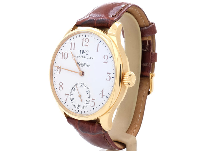 Limited Edition 43mm IWC PORTUGIESER F. A. JONES Ref. 5442 with Display Case Back
