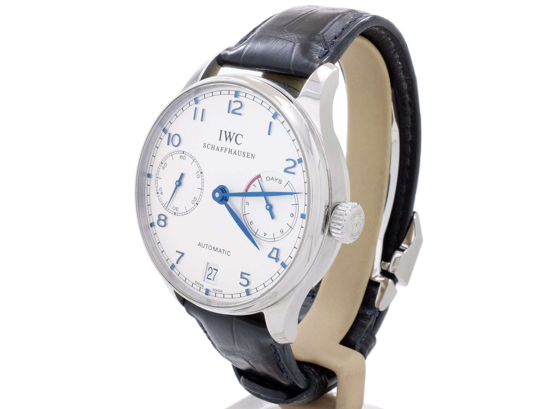 42mm IWC PORTUGIESER Ref. 5001 with Large Display Case Back in Superb Condition