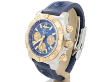 Load image into Gallery viewer, Almost-New Metallica Blue Breitling CHRONOMAT 44 model CB0110121C1P1 in Steel & Gold