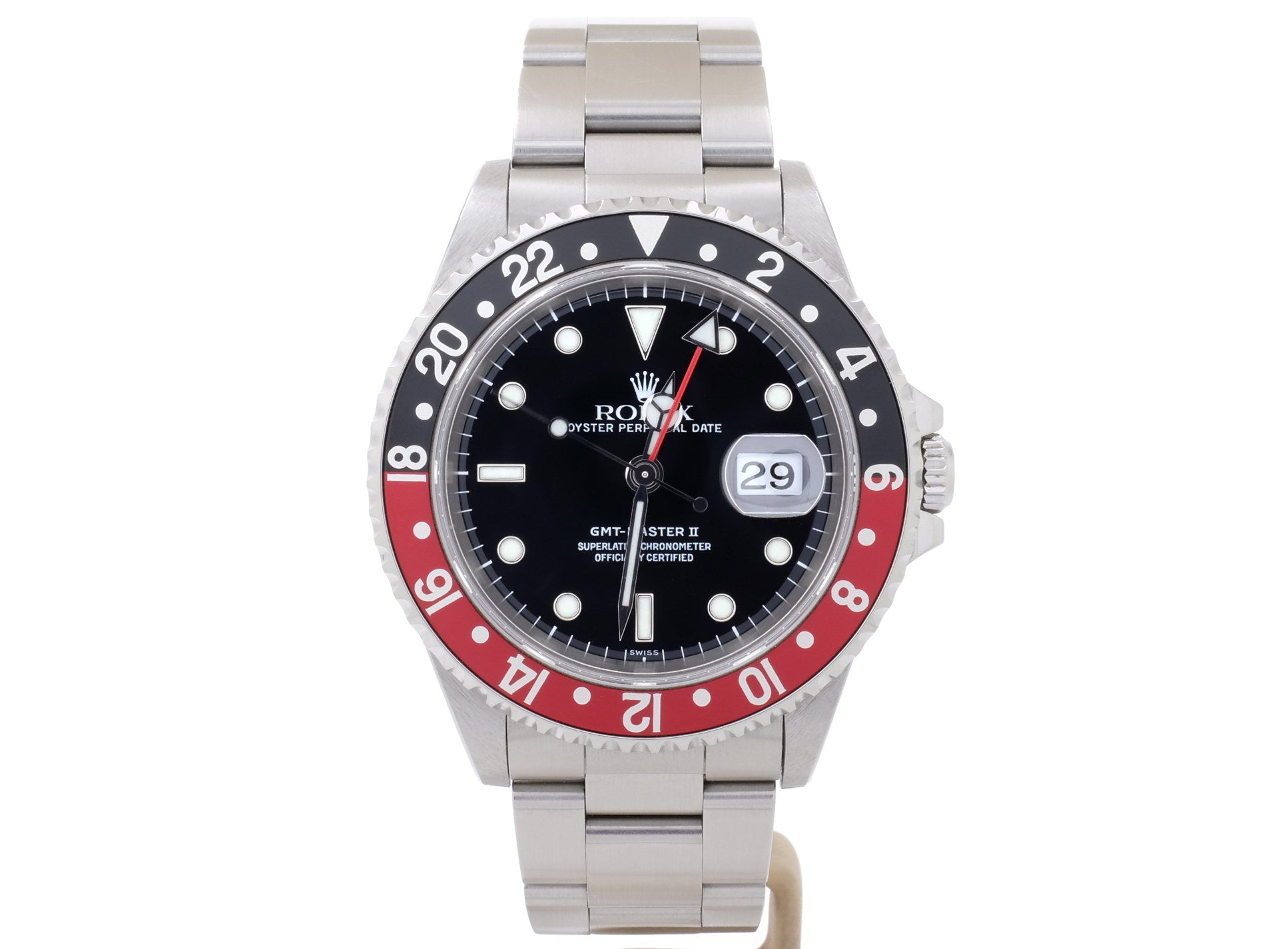 Coke-Bezel Rolex GMT-MASTER II Model 16710 in Superb Condition!