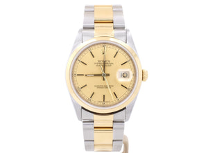 2003 36mm Rolex DATEJUST model 16203 in 18ct Gold and Steel
