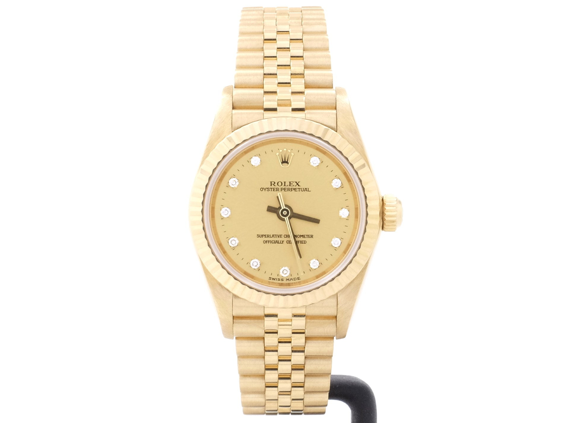 FANTASTIC Condition 2003 18ct Gold Rolex OYSTER 76198 with Original Diamond-Dot Dial