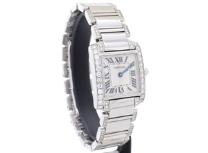20mm Ladies' Cartier TANK FRANÇAISE Model 2300 with Custom Diamond Set
