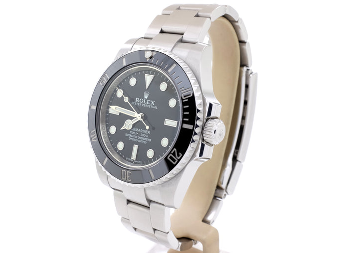 2011 Ceramic-Bezel Rolex SUBMARINER model 114060 in Excellent Condition