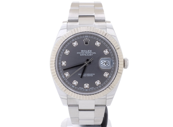 Almost-Like-New Rolex 'DATEJUST 41' Model 126334 with Original Diamond-Dot Dial