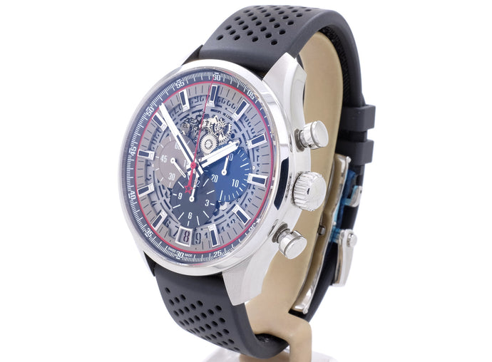 2019 45mm Zenith El Primero Chronomaster Skeleton model 03.2522.400/69.R576 is Like New