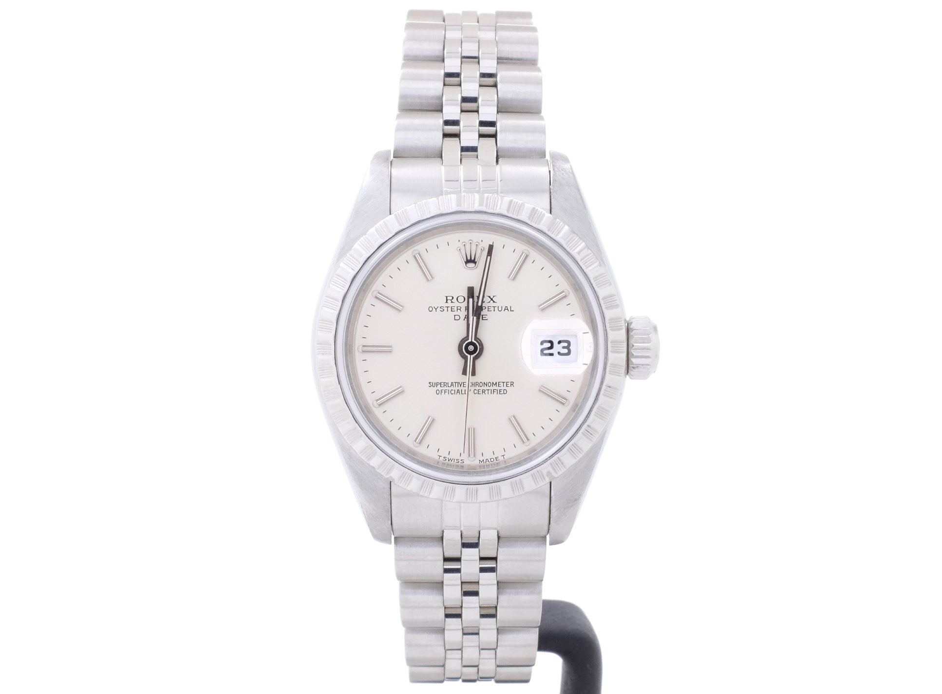 Affordable 26mm Rolex DATE model 69240 with Silver Dial