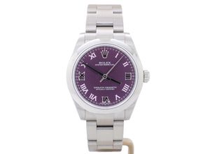 Ladies' 31mm Rolex OYSTER 177200 with Red Grape Roman Dial