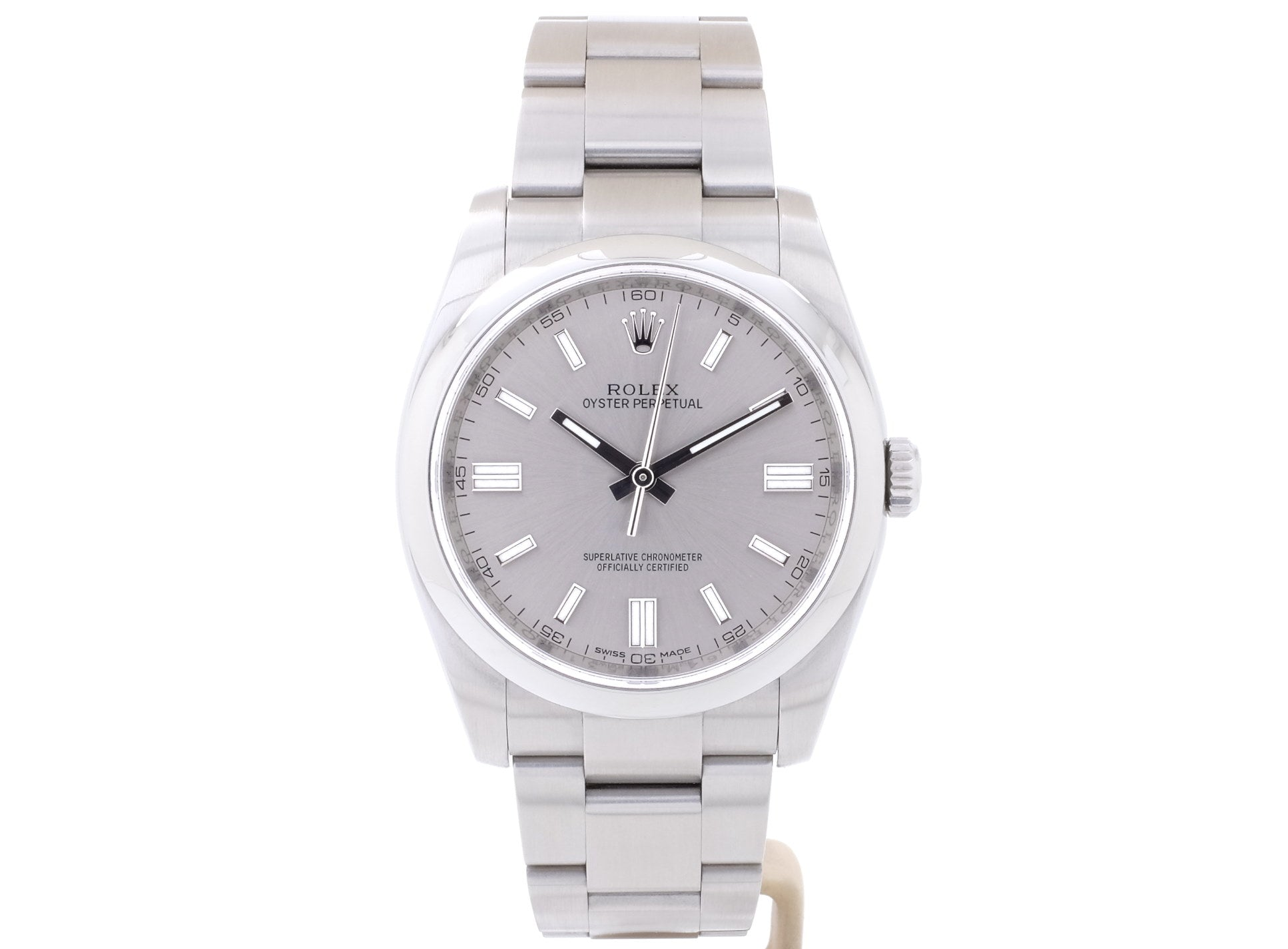 2015 36mm Rolex OYSTER PERPETUAL 36 Model 116000 with Grey Dial