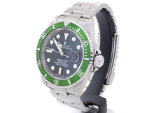Load image into Gallery viewer, 2003 Rolex SUBMARINER DATE 16610LV ('Kermit') with Flat 4