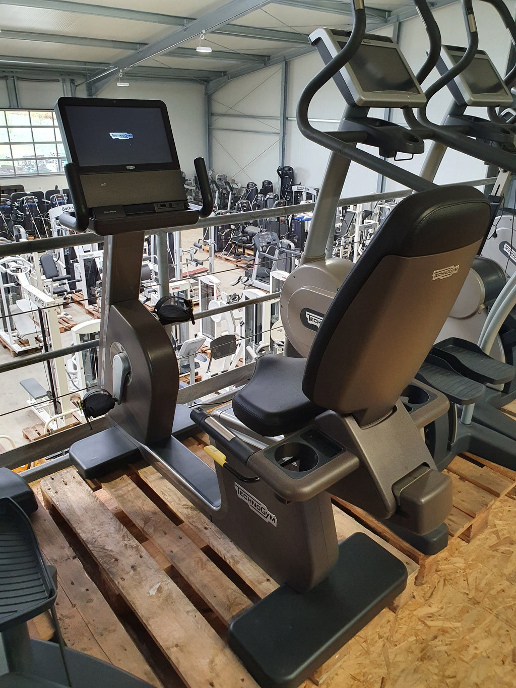 TECHNOGYM ARTIS Recline Bike Liege Fahrrad Unity Fitness Studio Gym