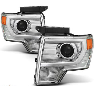 Chrome OEM HID Style Retrofit Headlights for Halogen Equipped Trucks only (2009-2014 F150)