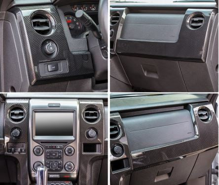 Ford F150/Raptor 2009-2014 Carbon Fiber Style Dash Trim Kit
