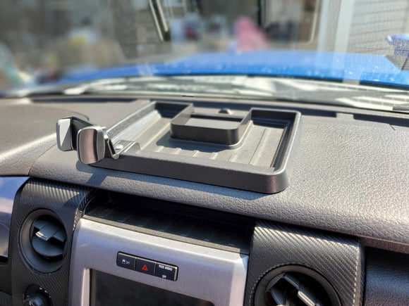 Ford F150/Raptor 2009-2014 ABS Dash Storage Box with cell phone holder