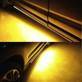 "2pcs 60"" Car Side Kick Running Board LED Strips Turn Signal waterproof 12V Amber and White Universal"