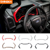 Interior Accessories Dashboard Trim Instrument Board Decorative Cover Strips Frame for Ford F150 2015+ Car Styling