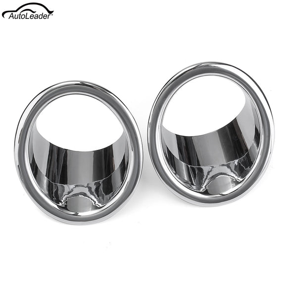 1 Pair ABS Chrome Front Fog Light Covers Trims for Ford Explorer 2011-2014