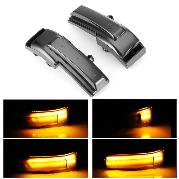 Ford F150 2015 2016 2017 Sequential Mirror Indicator Blinker Light LED Turn Signal Lights (Pair)