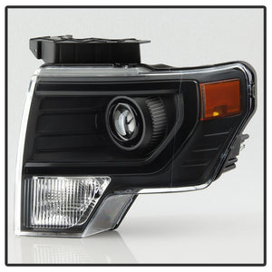 Black OEM HID Style High Performance HID Projector Retrofit Headlights for Halogen Equipped Truck Only (2009-2014 F150)