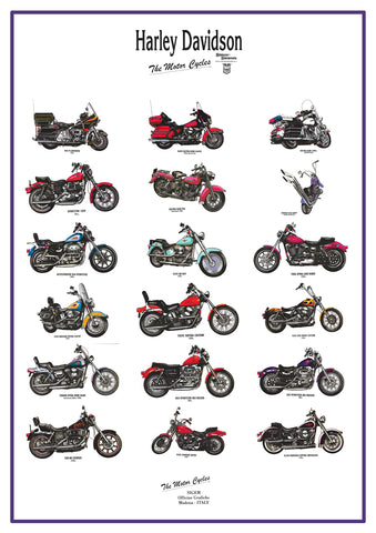 The Road Cars POSTER HARLEY DAVIDSON